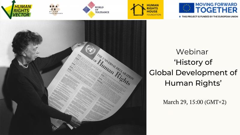 Webinar 'History of Global Development of Human Rights'