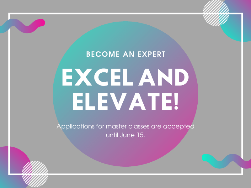Excel and Elevate! - Submit your master class as a part of the new EENCE initiative
