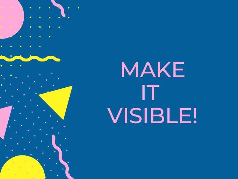 Make it Visible! A new educational project on the Sustainable Development Goals