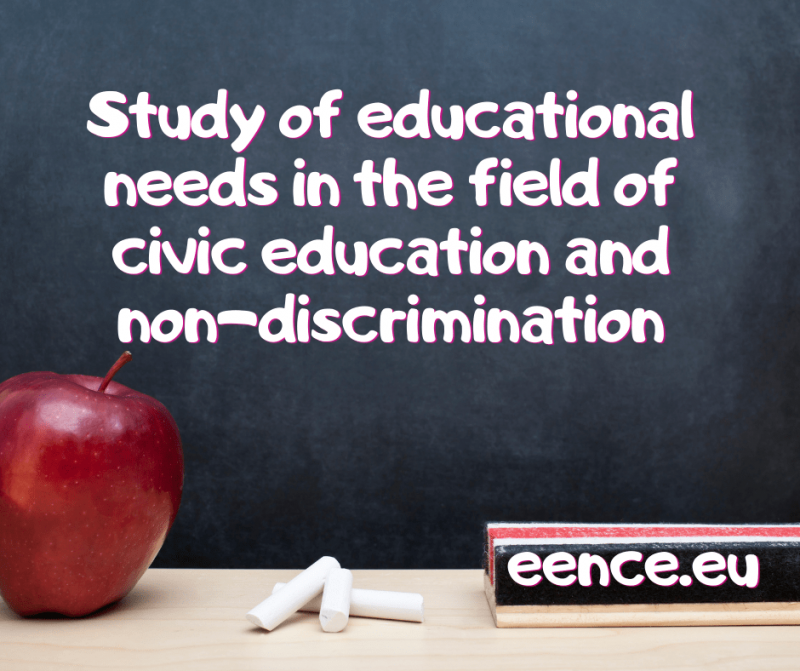 Take part in the study of educational needs in the field of civic education and non-discrimination