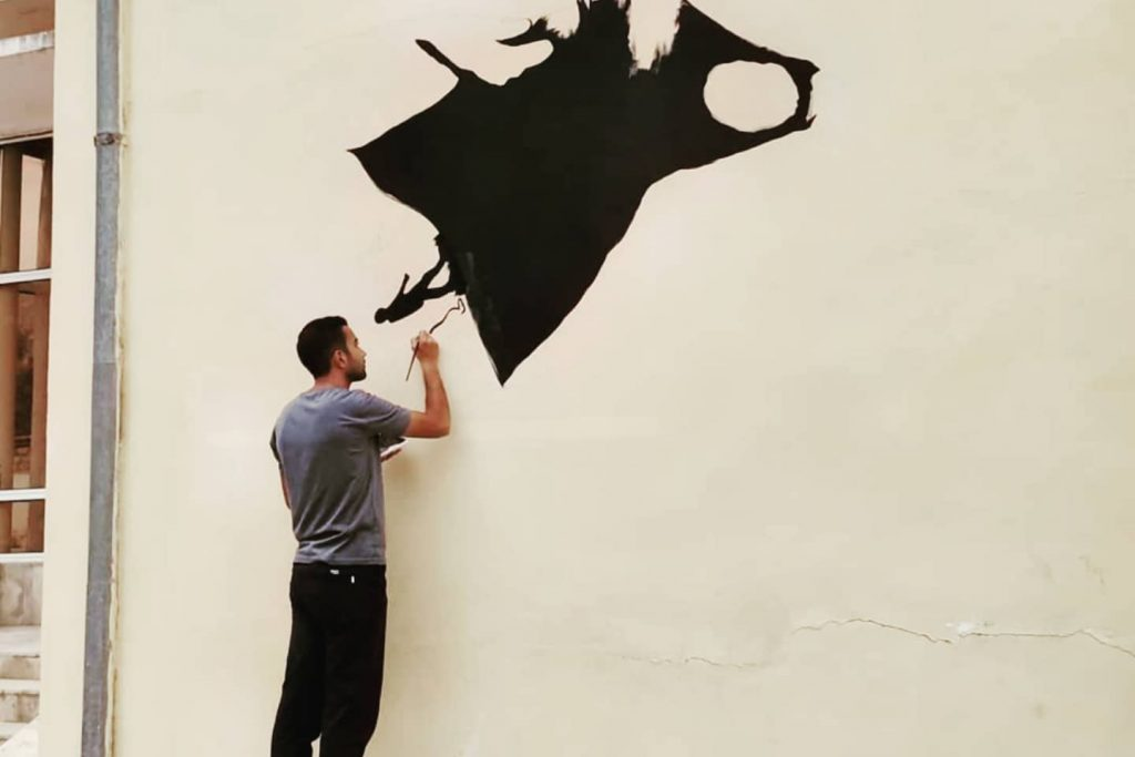 The portrait of Professor Lutfi Zadeh decorated the wall of Mingachevir State University