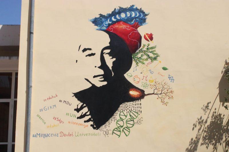 Портрет профессора Лютфи Заде украсил стену Мингечавирского государственного университета